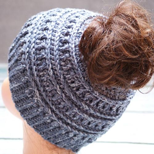 Sample Messy Bun Hat
