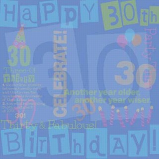 30th Birthday Collage Paper