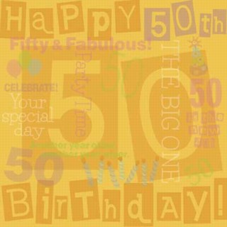 50th Birthday Collage Paper
