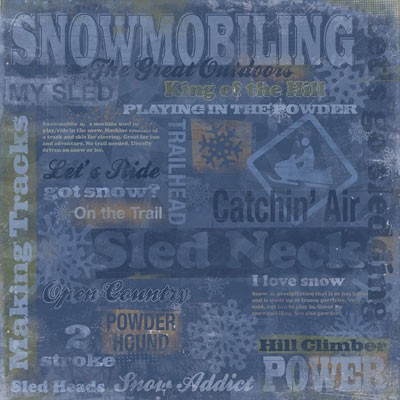 Snowmobiling Collage Paper