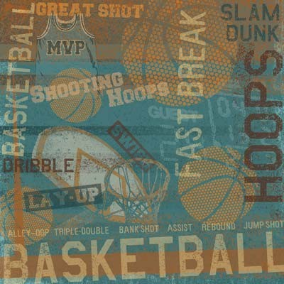 Hoops Collage Paper