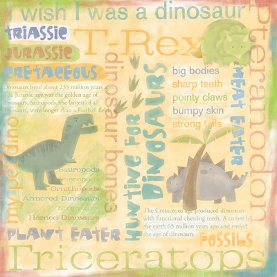 Dinosaur Collage Paper