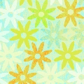 Green & Blue Daisies Cardstock