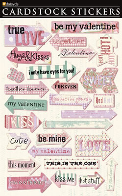 Valentine Arrows Cardstock Stickers