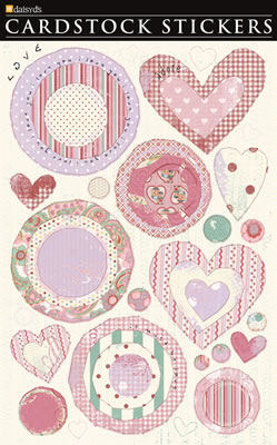 Valentine Circles & Hearts Cardstock Stickers