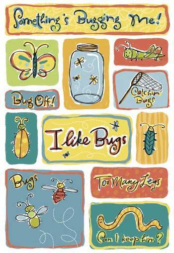 I Like Bugs Cardstock Stickers