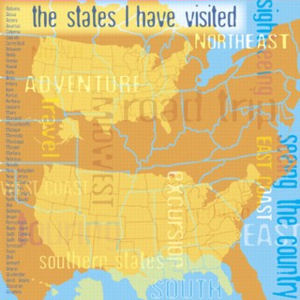 US Map Collage Paper