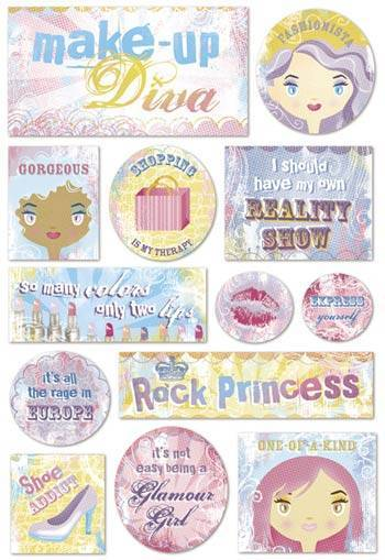 Make Up Diva Cardstock Stickers