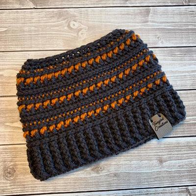 Messy Bun Hat #1