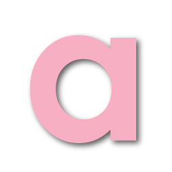 Pink Foam Alphabet Stickers